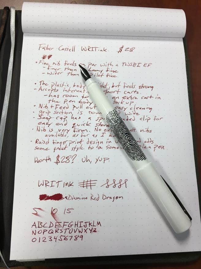 WRITink writing sample