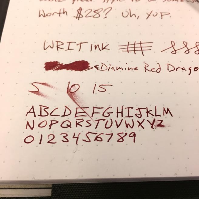 WRITink writing sample Closeup