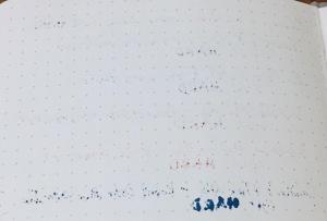 Baron Fig Confidant Writing Sample Back