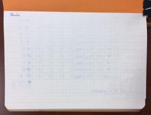 Rhodia Webnotebook Ink Test Page Back