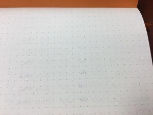 Rhodia Webnotebook Ink Test Page Back Closeup