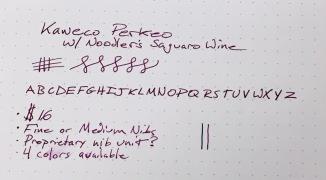 Kaweco Perkeo Writing Sample