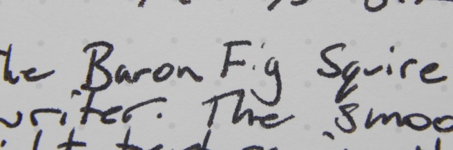 Baron Fig Squire - Writing Sample Closeup
