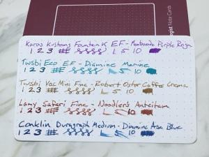 Baron Fig Strategist Note Cards - Ink Tests