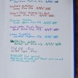 Artist's Loft Dot Journal Ink Test Page
