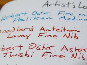 Artist's Loft Dot Journal Ink Test Close Up