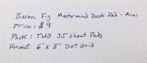 Baron Fig Mastermind Writing Sample