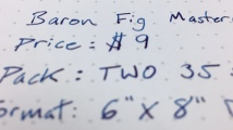 Baron Fig Mastermind Writing Sample close up