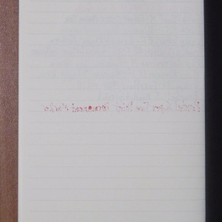 Muji Stationery Ink Test Page Back
