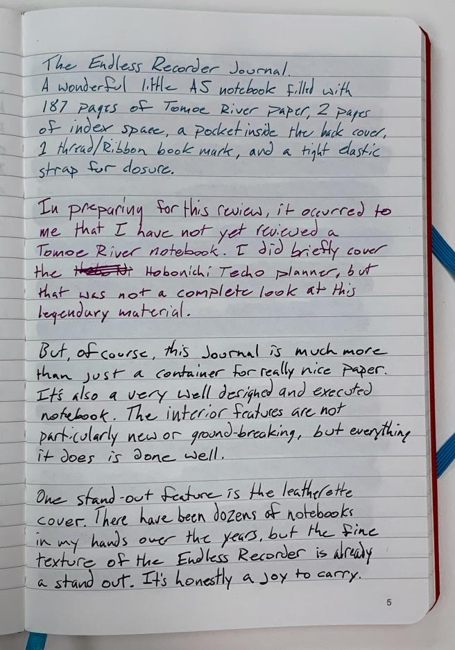 Endless Recorder Notebook Written Review