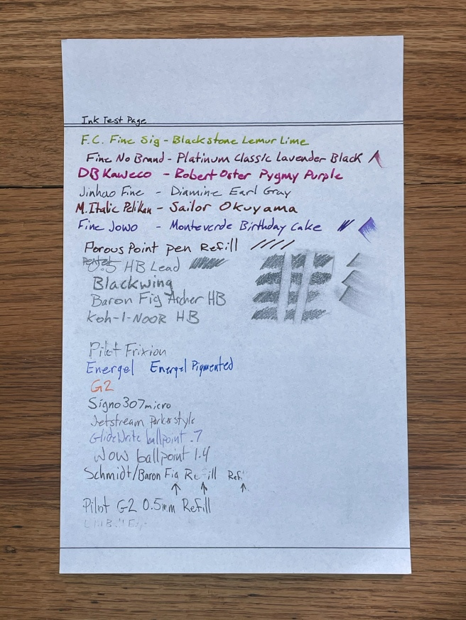 Vintage Writing Paper sample