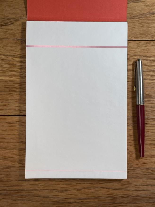 Vintage Writing Paper red