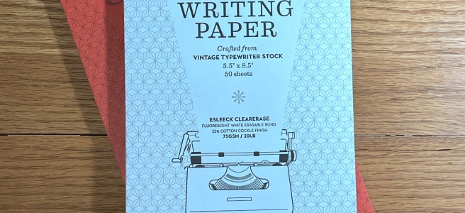 Vintage Writing Paper Cover