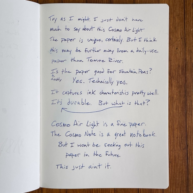 Cosmo Air Light Writing Sample 2