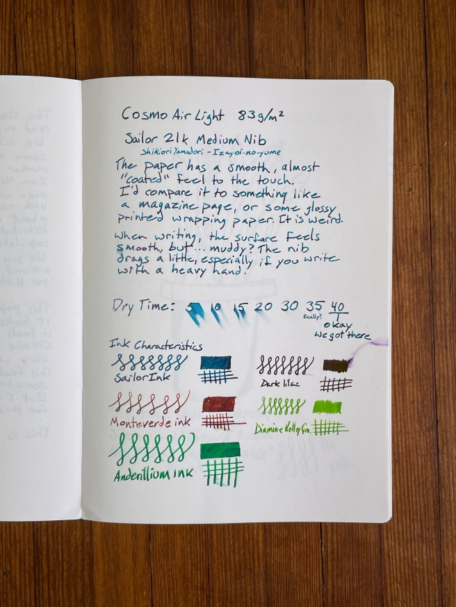 Cosmo Air Light Writing Sample 1